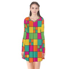 Abstract Background Abstract Flare Dress