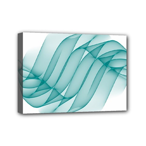 Background Light Glow Blue Mini Canvas 7  X 5