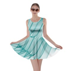 Background Light Glow Blue Skater Dress