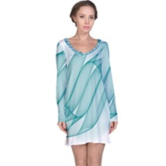Background Light Glow Blue Long Sleeve Nightdress