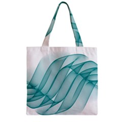 Background Light Glow Blue Zipper Grocery Tote Bag