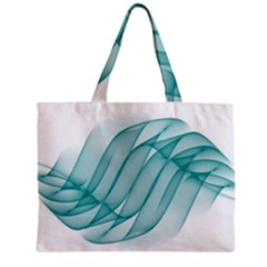Background Light Glow Blue Zipper Mini Tote Bag