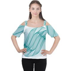 Background Light Glow Blue Cutout Shoulder Tee