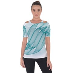 Background Light Glow Blue Short Sleeve Top