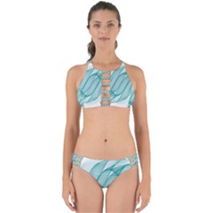 Background Light Glow Blue Perfectly Cut Out Bikini Set