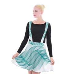 Background Light Glow Blue Suspender Skater Skirt by Nexatart