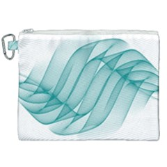 Background Light Glow Blue Canvas Cosmetic Bag (xxl)