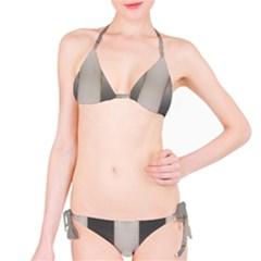 Wall Steel Ivory Creative Texture Bikini Set