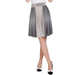 Wall Steel Ivory Creative Texture A Line Skirt