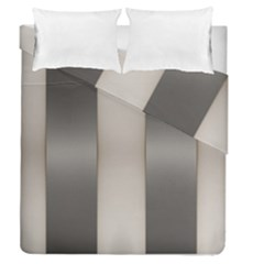 Wall Steel Ivory Creative Texture Duvet Cover Double Side (queen Size)