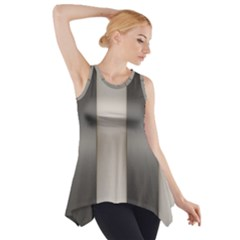 Wall Steel Ivory Creative Texture Side Drop Tank Tunic