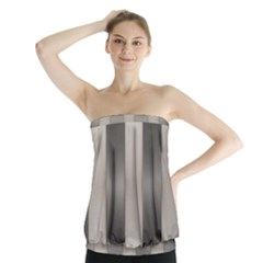Wall Steel Ivory Creative Texture Strapless Top