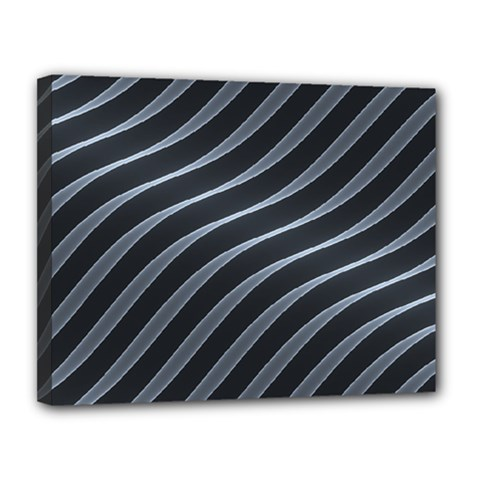 Metal Steel Stripped Creative Canvas 14  X 11