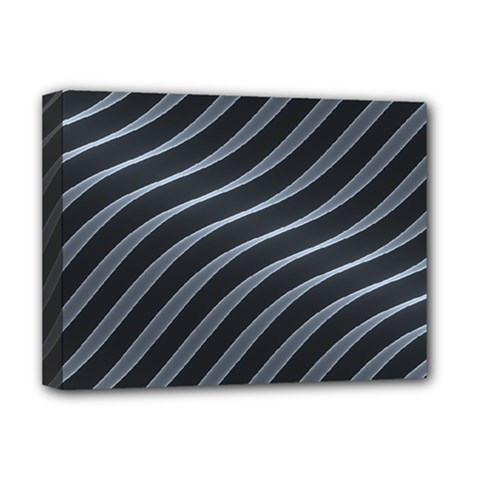 Metal Steel Stripped Creative Deluxe Canvas 16  X 12