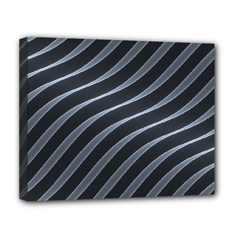 Metal Steel Stripped Creative Deluxe Canvas 20  X 16