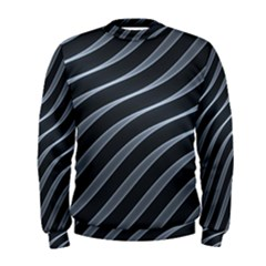 Metal Steel Stripped Creative Men s Sweatshirt