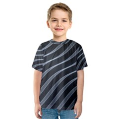Metal Steel Stripped Creative Kids  Sport Mesh Tee