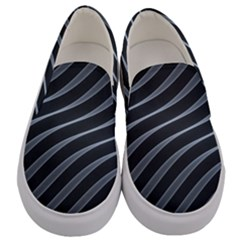 Metal Steel Stripped Creative Men s Canvas Slip Ons