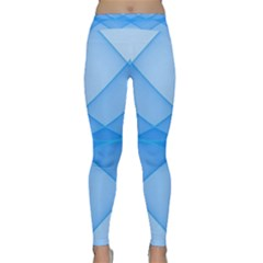 Background Light Glow Blue Classic Yoga Leggings