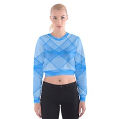 Background Light Glow Blue Cropped Sweatshirt