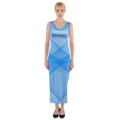Background Light Glow Blue Fitted Maxi Dress