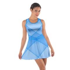 Background Light Glow Blue Cotton Racerback Dress