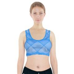 Background Light Glow Blue Sports Bra With Pocket