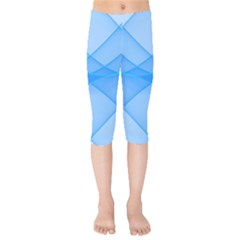 Background Light Glow Blue Kids  Capri Leggings