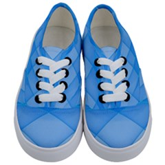 Background Light Glow Blue Kids  Classic Low Top Sneakers