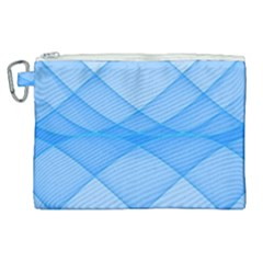 Background Light Glow Blue Canvas Cosmetic Bag (xl)