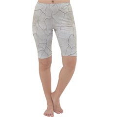 Background Wall Marble Cracks Cropped Leggings