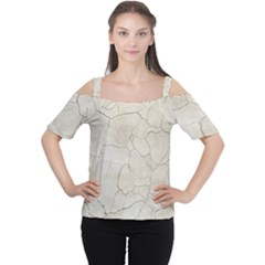 Background Wall Marble Cracks Cutout Shoulder Tee