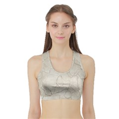 Background Wall Marble Cracks Sports Bra With Border