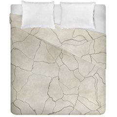 Background Wall Marble Cracks Duvet Cover Double Side (california King Size) by Nexatart