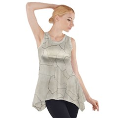 Background Wall Marble Cracks Side Drop Tank Tunic