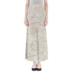 Background Wall Marble Cracks Full Length Maxi Skirt