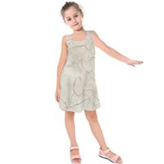 Background Wall Marble Cracks Kids  Sleeveless Dress