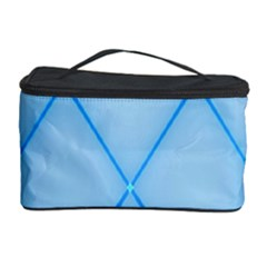 Background Light Glow Blue Cosmetic Storage Case