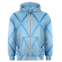Background Light Glow Blue Men s Zipper Hoodie