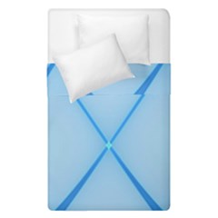 Background Light Glow Blue Duvet Cover Double Side (single Size)
