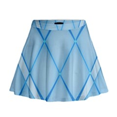 Background Light Glow Blue Mini Flare Skirt