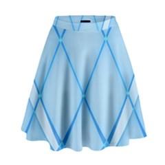 Background Light Glow Blue High Waist Skirt