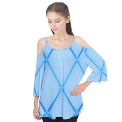 Background Light Glow Blue Flutter Tees