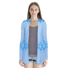 Background Light Glow Blue Drape Collar Cardigan