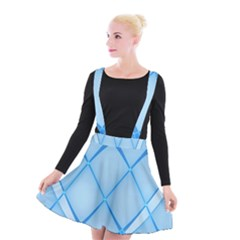 Background Light Glow Blue Suspender Skater Skirt