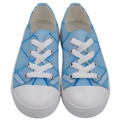 Background Light Glow Blue Kids  Low Top Canvas Sneakers