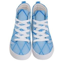 Background Light Glow Blue Kid s Hi Top Skate Sneakers