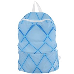 Background Light Glow Blue Foldable Lightweight Backpack