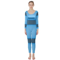 Wall Blue Steel Light Creative Long Sleeve Catsuit
