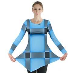Wall Blue Steel Light Creative Long Sleeve Tunic